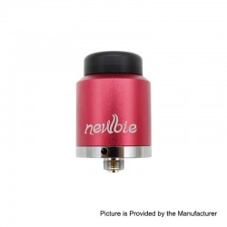 Authentic Vapordance Newbie RDA Rebuildable Dripping Atomizer - Red, Aluminum + Brass, 24mm Diameter