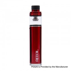 Authentic Smokjoy Rebel 2200mAh All-in-One Starter Kit - Red, 3.5ml