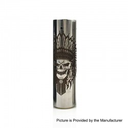 Rogue Rainmaker Style Hybrid Mechanical Tube Mod - Silver, Stainless Steel, 1 x 18650