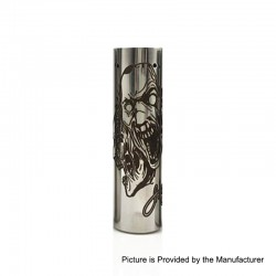 Rogue 3 Faces Style Hybrid Mechanical Tube Mod - Silver, Stainless Steel, 1 x 18650
