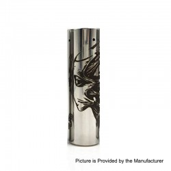 Rogue Toys In The Attic Style Hybrid Mechanical Tube Mod - Silver, Stainless Steel, 1 x 18650