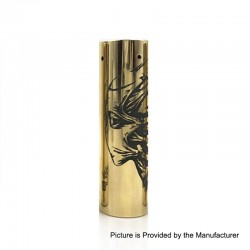Rogue Toys In The Attic Style Hybrid Mechanical Tube Mod - Brass, Brass, 1 x 18650
