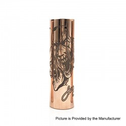 Rogue 3 Faces Style Hybrid Mechanical Tube Mod - Copper, Copper, 1 x 18650