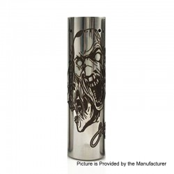 Rogue 3 Faces Style Hybrid Mechanical Tube Mod - Silver, Stainless Steel, 1 x 18650 / 20700