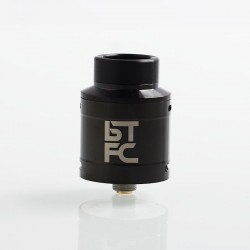 Authentic Augvape BTFC RDA Rebuildable Dripping Atomizer w/ BF Pin - Black, Stainless Steel, 25mm Diameter