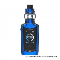 Authentic SMOKTech SMOK Species 230W TC VW Mod + TFV8 Baby V2 Tank Kit - Prism Blue + Black, 1~230W, 2 x 18650, 5ml