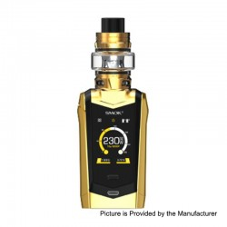 Authentic SMOKTech SMOK Species 230W TC VW Mod + TFV8 Baby V2 Tank Kit - Gold + Black, 1~230W, 2 x 18650, 5ml