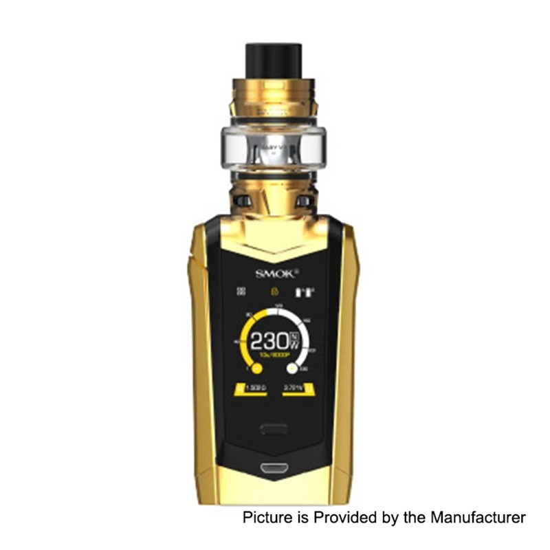 Buy SMOK Species 230W Gold Black TC Mod + TFV8 Baby V2 Kit