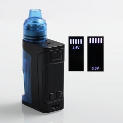 Authentic Vandy Vape Simple EX Squonk Box Mod + EX RDA Kit - Blue, 3.3~4.5V, 4ml