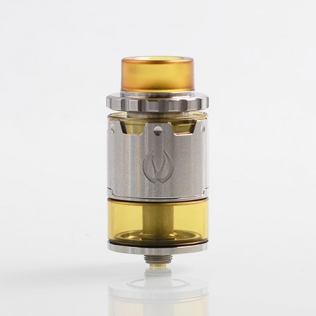 Authentic Vandy Vape Pyro V2 RDTA Rebuildable Dripping Tank Atomizer w/ BF Pin - Silver, 4ml, 24mm Diameter