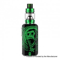 Authentic Vaporesso Luxe 220W TC VW Variable Wattage Box Mod + Skrr Tank Kit - Green Ape, 5~220W, 2 x 18650, 8ml