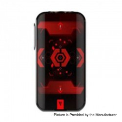 Authentic Vaporesso Luxe 220W TC VW Variable Wattage Box Mod - Red, 5~220W, 2 x 18650