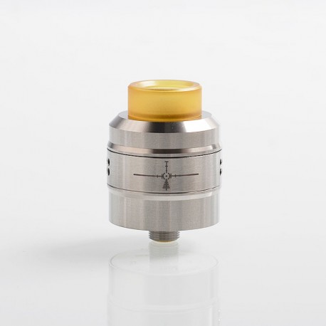 Authentic Demon Killer Sniper RDA Rebuildable Dripping Atomizer w/ BF Pin - Silver, Stainless Steel, 24mm Diameter