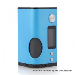 Authentic Dovpo Basium 180W VV VW Variable Wattage Squonk Box Mod - Blue, Zinc Alloy, 5~180W, 2 x 18650, 6ml