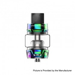 Authentic Vaporesso Skrr Sub Ohm Tank Clearomizer - Rainbow, Stainless Steel, 8ml, 30mm Diameter