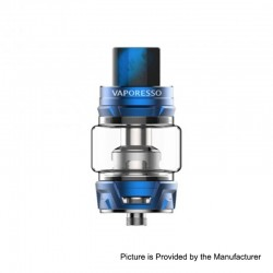 Authentic Vaporesso Skrr Sub Ohm Tank Clearomizer - Blue, Stainless Steel, 8ml, 30mm Diameter