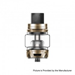 Authentic Vaporesso Skrr Sub Ohm Tank Clearomizer - Champagne Gold, Stainless Steel, 8ml, 30mm Diameter