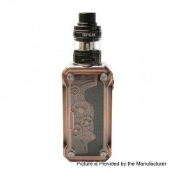 Authentic Tesla Punk Mini 85W TC VW Variable Wattage Box Mod + H8 Mini Tank Kit - Copper, 7~85W, 1 x 18650, 2ml