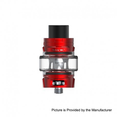 Authentic SMOKTech SMOK TFV8 Baby V2 Sub Ohm Tank Clearomizer - Red, Stainless Steel, 5ml, 30mm Diameter