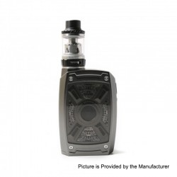 Authentic Tesla XT 220W TC VW Variable Wattage Mod + Tallica Mini Tank Kit - Gun Metal, 7~220W, 2 x 18650 / 20700 / 21700, 4ml