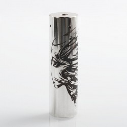 Rogue Toys In The Attic Style Hybrid Mechanical Tube Mod - Silver, Stainless Steel, 1 x 18650 / 20700