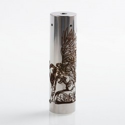 Rogue American Angel Style Hybrid Mechanical Tube Mod - Silver, Stainless Steel, 1 x 18650 / 20700