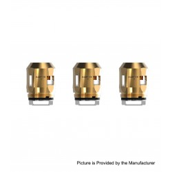 Authentic SMOKTech SMOK Replacement A3 Coil Head for TFV8 Baby V2 Sub Ohm Tank - Gold, 0.15ohm (60~100W) (3 PCS)