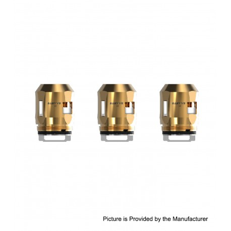 Authentic SMOKTech SMOK Replacement A3 Coil Head for TFV8 Baby V2 Sub Ohm Tank - Gold, 0.15ohm (80~130W) (3 PCS)