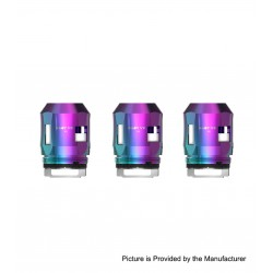 Authentic SMOKTech SMOK Replacement A3 Coil Head for TFV8 Baby V2 Sub Ohm Tank - Rainbow, 0.15ohm (60~100W) (3 PCS)