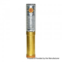 SOB Uno Bersikulo Style Hybrid Mechanical Mod + Extension Tube Kit - Transparent, Brass + PC, 1 / 2 x 18650