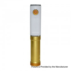 SOB Uno Bersikulo Style Hybrid Mechanical Mod + Extension Tube Kit - White, Brass + POM, 1 / 2 x 18650
