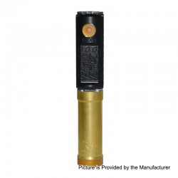 SOB Uno Bersikulo Style Hybrid Mechanical Mod + Extension Tube Kit - Black, Brass + POM, 1 / 2 x 18650