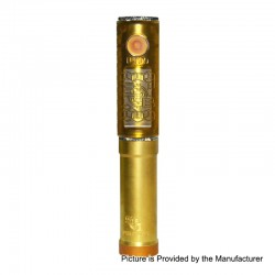 SOB Uno Bersikulo Style Hybrid Mechanical Mod + Extension Tube Kit - Yellow, Brass + PEI, 1 / 2 x 18650