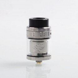 Authentic Acevape MK RTA Rebuildable Tank Atomizer - Silver, Stainless Steel, 5ml, 25mm Diameter