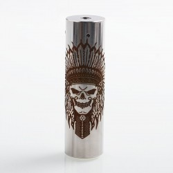 Rogue Rainmaker Style Hybrid Mechanical Tube Mod - Silver, Stainless Steel, 1 x 18650 / 20700