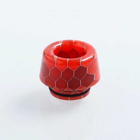 810 Replacement Drip Tip for TFV8 / TFV12 Tank / 528 Goon / Kennedy / Reload RDA - Red, Resin, 13.6mm