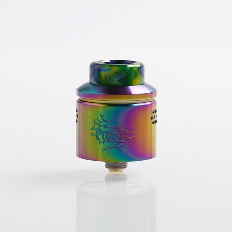 Authentic Wotofo Profile RDA Rebuildable Dripping Atomizer w/ BF Pin - Rainbow, Stainless Steel, 24mm Diameter