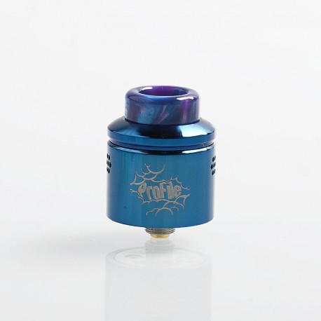 Authentic Wotofo Profile RDA Rebuildable Dripping Atomizer w/ BF Pin - Blue, Stainless Steel, 24mm Diameter