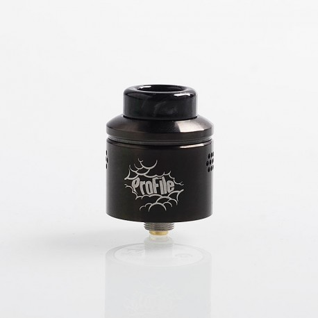 Authentic Wotofo Profile RDA Rebuildable Dripping Atomizer w/ BF Pin - Gun Metal, Stainless Steel, 24mm Diameter