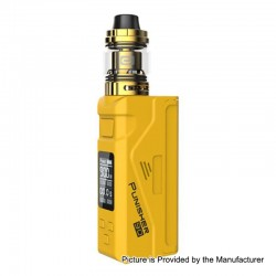 Authentic Dovpo Punisher 90W TC VW Variable Wattage Box Mod + DJ Atomizer Kit - Yellow, 5~90W, 1 x 18650 / 20700 / 21700, 3ml