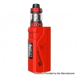 Authentic Dovpo Punisher 90W TC VW Variable Wattage Box Mod + DJ Atomizer Kit - Red, 5~90W, 1 x 18650 / 20700 / 21700, 3ml