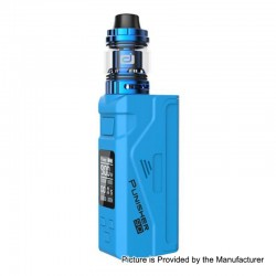Authentic Dovpo Punisher 90W TC VW Variable Wattage Box Mod + DJ Atomizer Kit - Blue, 5~90W, 1 x 18650 / 20700 / 21700, 3ml