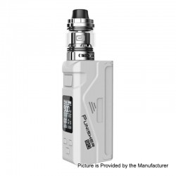 Authentic Dovpo Punisher 90W TC VW Variable Wattage Box Mod + DJ Atomizer Kit - White, 5~90W, 1 x 18650 / 20700 / 21700, 3ml