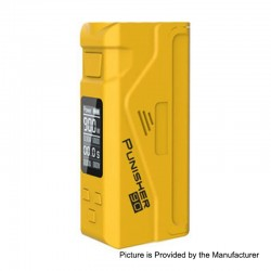 Authentic Dovpo Punisher 90W TC VW Variable Wattage Box Mod - Yellow, 5~90W, 1 x 18650 / 20700 / 21700