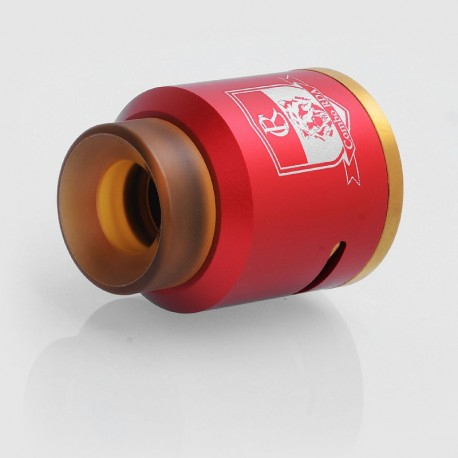 Authentic IJOY Combo RDA Rebuildable Dripping Atomizer - Red, Stainless Steel, 25mm Diameter