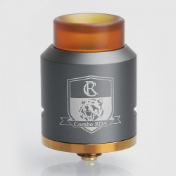 Authentic IJOY Combo RDA Rebuildable Dripping Atomizer - Gun Metal, Stainless Steel, 25mm Diameter