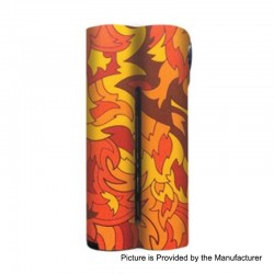 Authentic Squid Industries Skin Sticker for Double Barrel V2.1 Box Mod - Flames