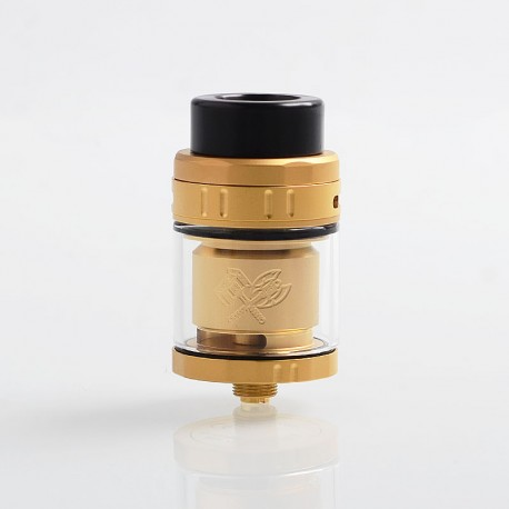 Authentic Acevape MK RTA Rebuildable Tank Atomizer - Gold, Stainless Steel, 5ml, 25mm Diameter
