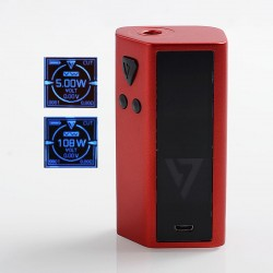 Authentic Desire Cut 108W TC VW Variable Wattage Squonk Box Mod - Red, Zinc Alloy, 5~108W, 1 x 18650 / 21700, 7ml