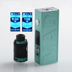 Authentic Desire Mad 108W TC VW Variable Wattage Box Mod + M-Tank Kit - Blue, 5~108W, 1 x 18650 / 20700, 3ml